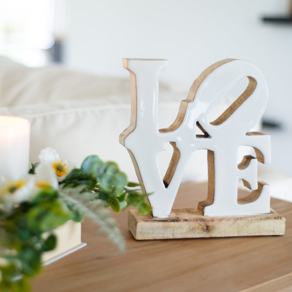 "Wood Tabletop ""Love"" Sign"