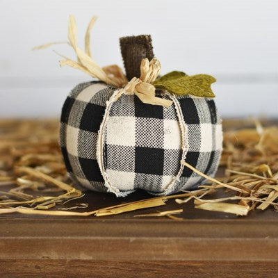 Black check pumpkin, 4.5""