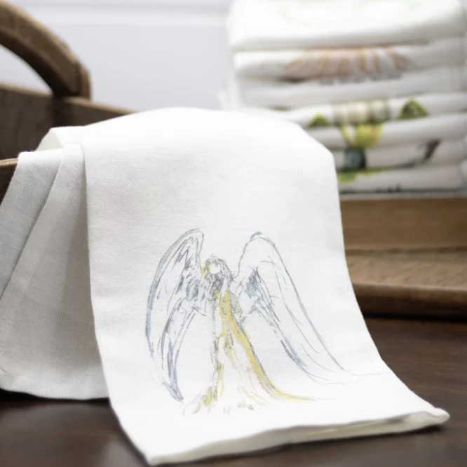 Tea Towel with Angel