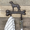 Cast Iron Dog on Bone Hooks