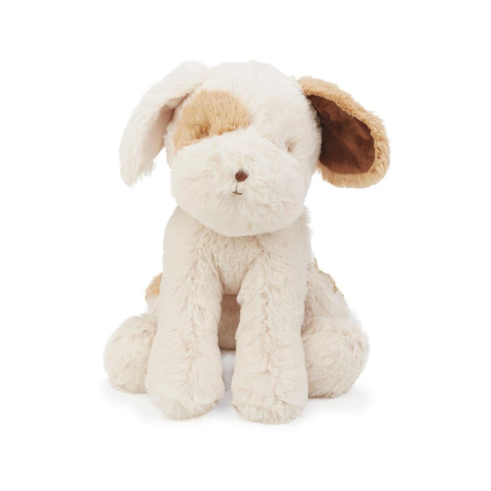 "Cream plush ""Skipit"" pup, available in two sizes"