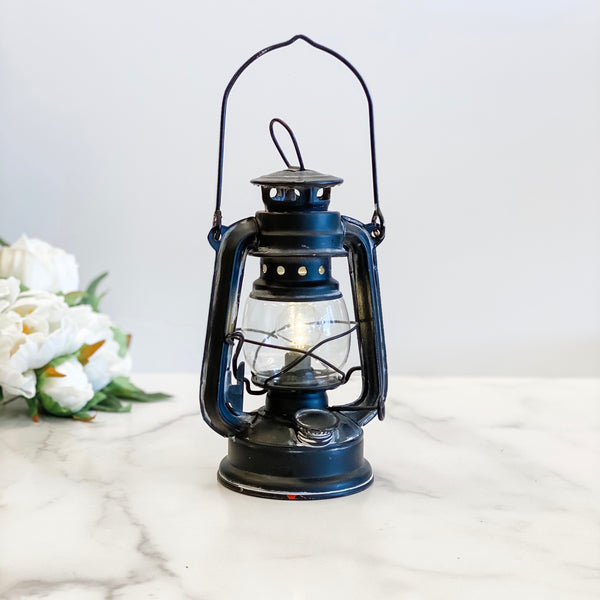 "7.5"" Old Black LED Lantern"