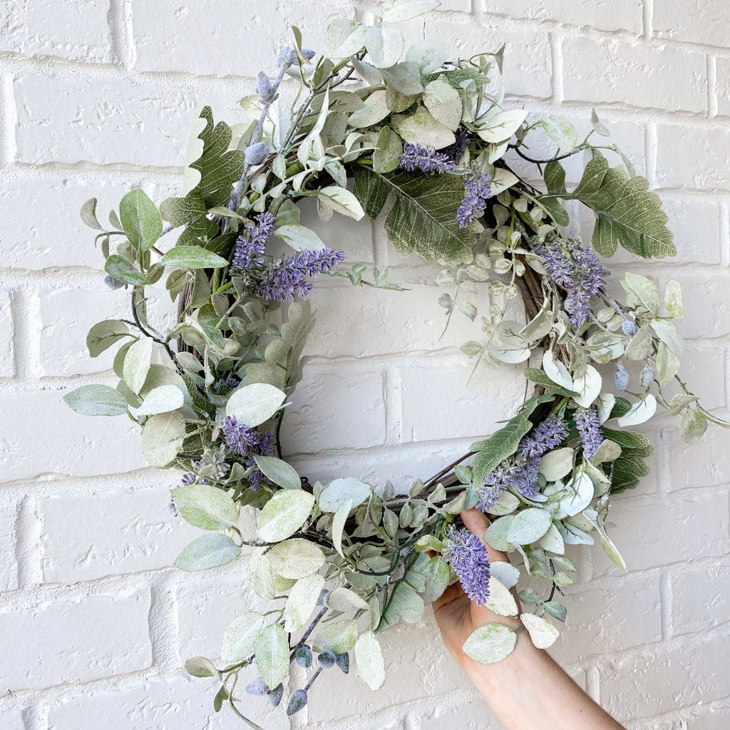 Summer floral wreath, 21""