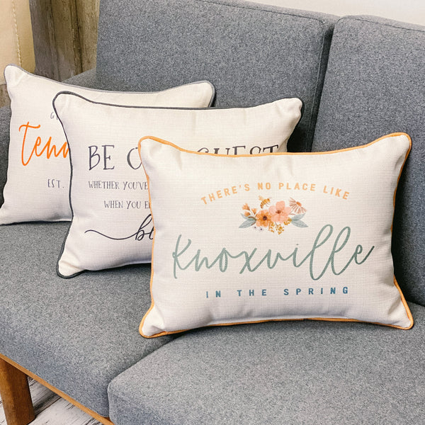 """There's no place like Knoxville"" Spring Pillow"