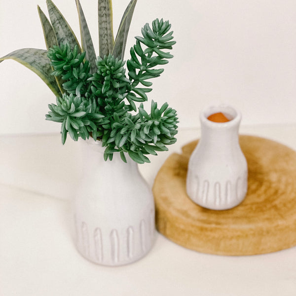 Modern matte white Vase, available in two sizes