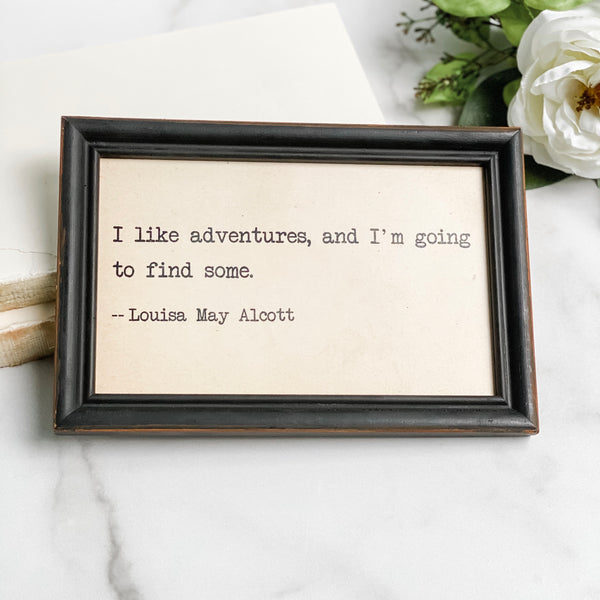 Framed art with quote