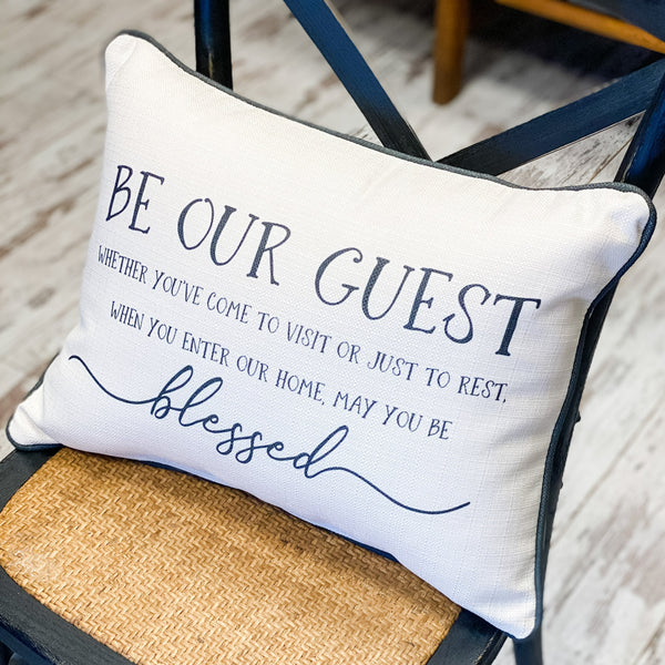 """Blessed Guest"" Pillow"