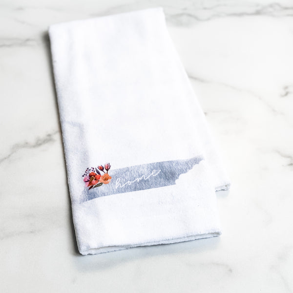 Floral watercolor TN state towel