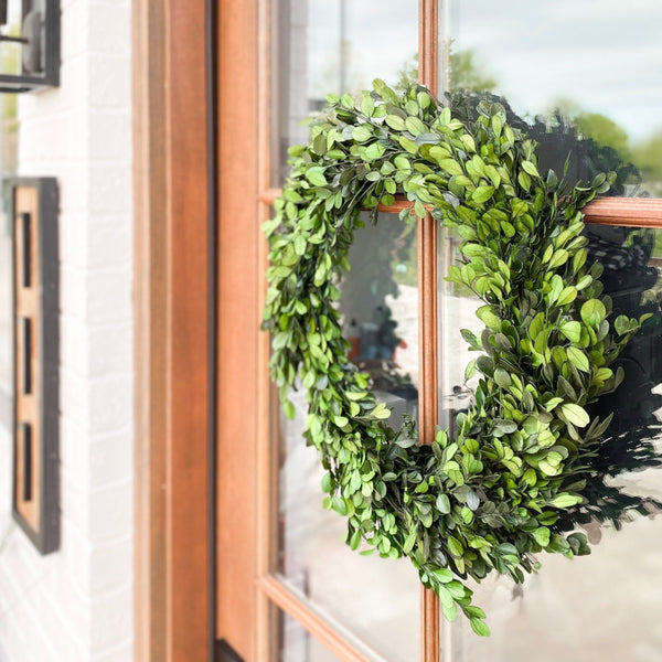Boxwood wreath, available in two sizes!