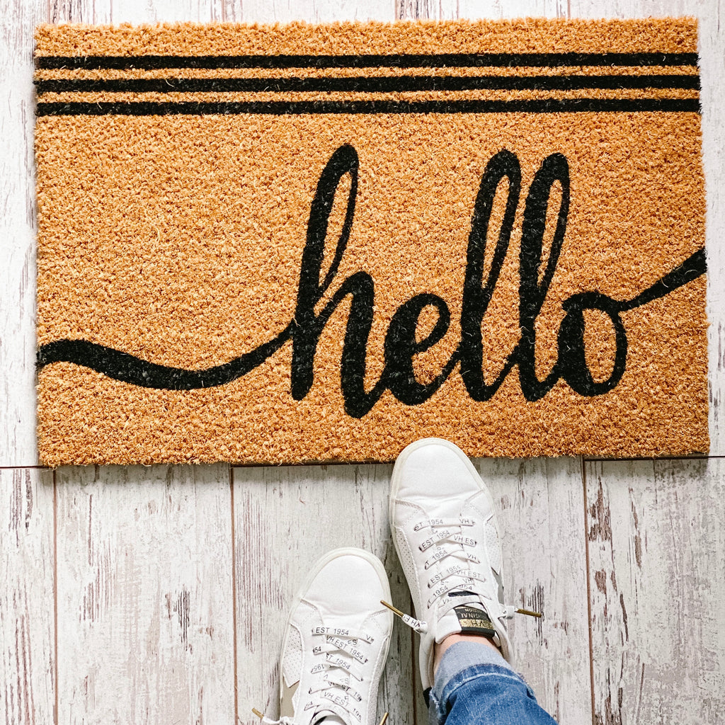 """Hello"" Door Mat"
