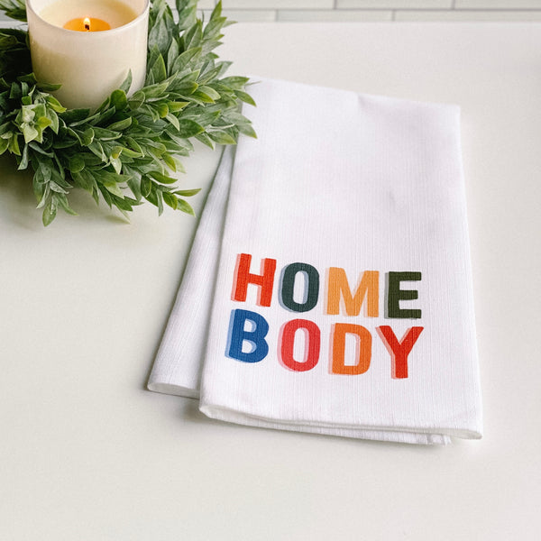 """Homebody"" towel"