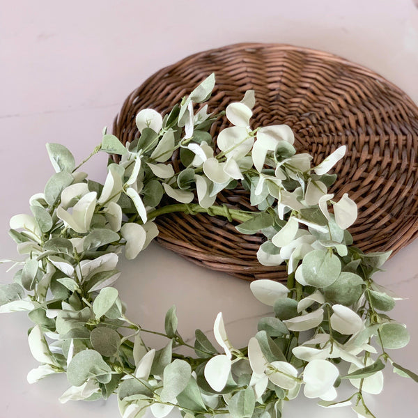 Eucalyptus candle ring or mini wreath!