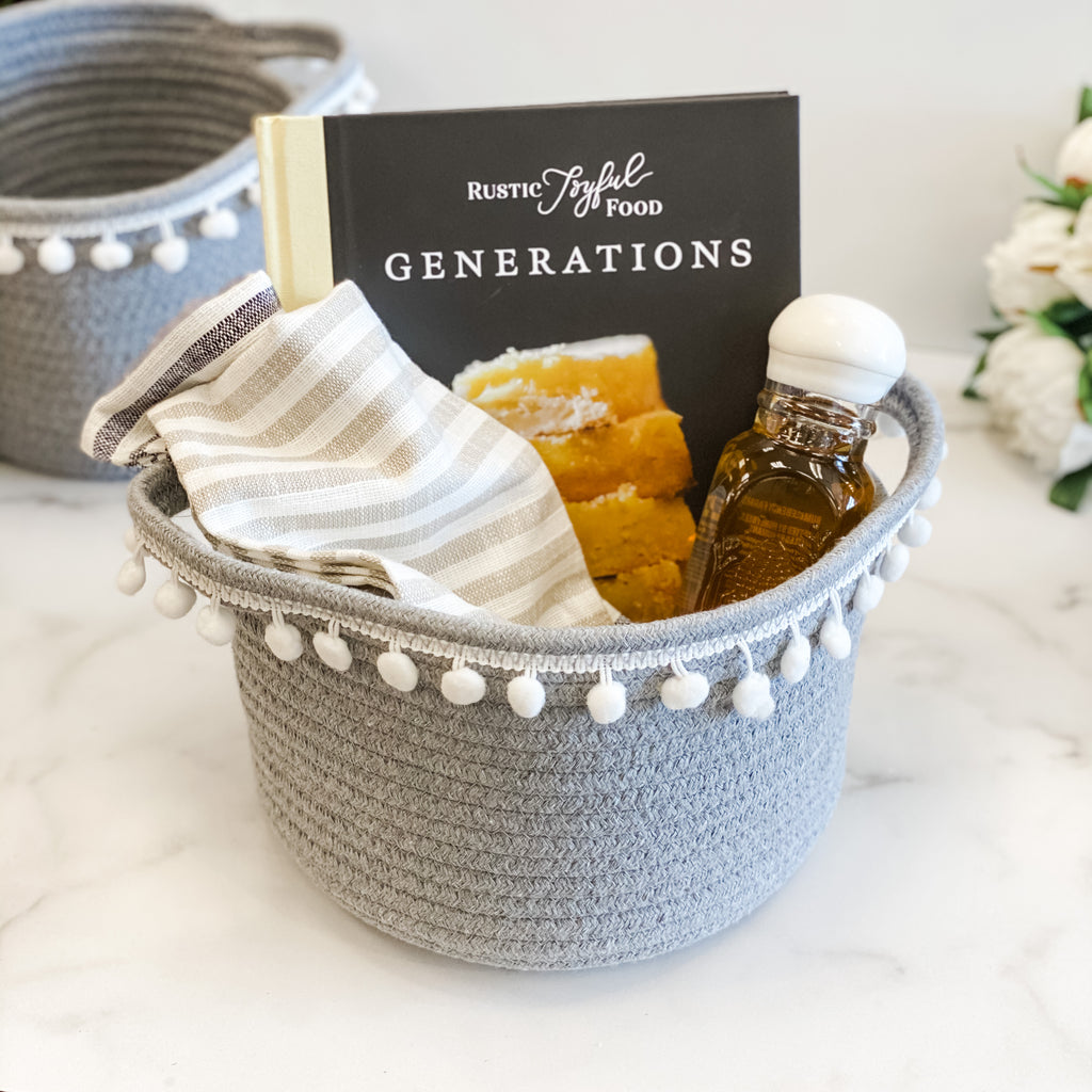 Grey Woven Basket, Available in three sizes!