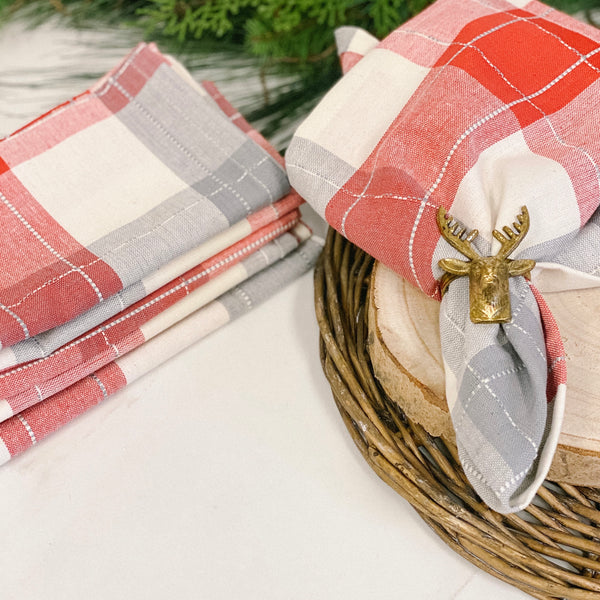 Nordic Plaid Tableware, available in placemats and napkins