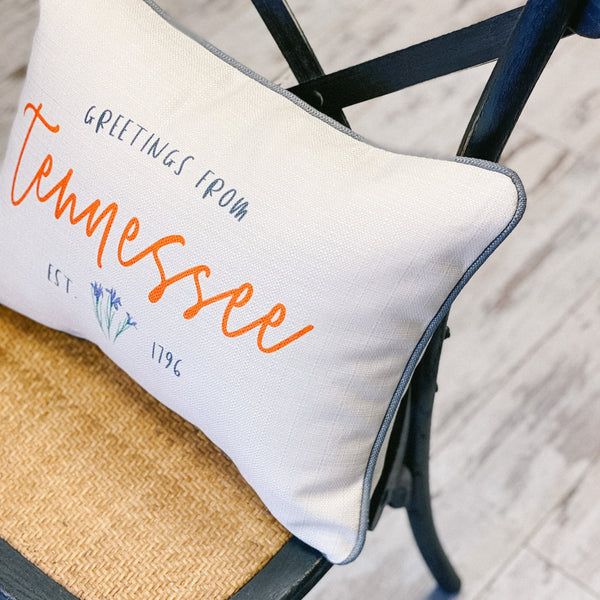 """Greetings From Tennessee"" Pillow"