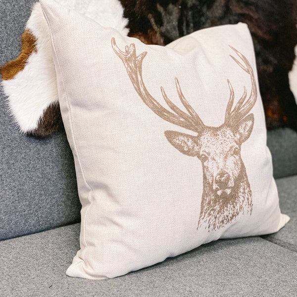 """Stag"" Cottage Pillow, 20"""