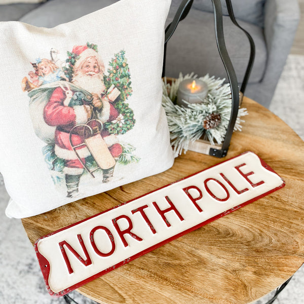 """North Pole"" metal sign"