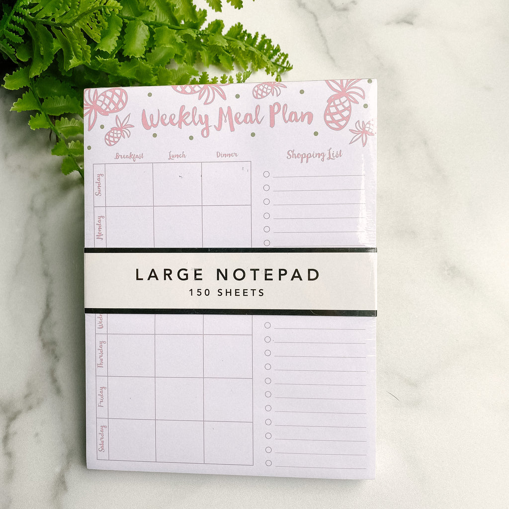 Meal Plan notepad