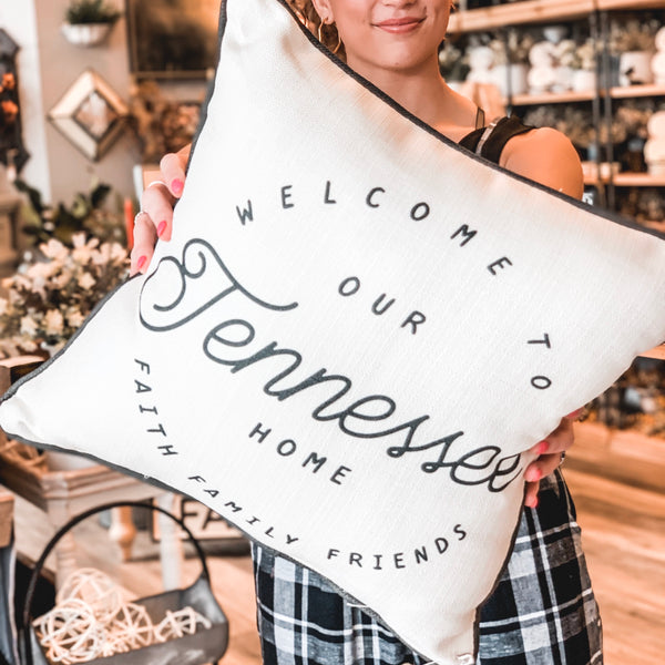 """Welcome to our Tennessee home"" pillow"