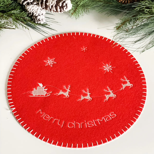 Felt Holiday Placemat, available in two styles