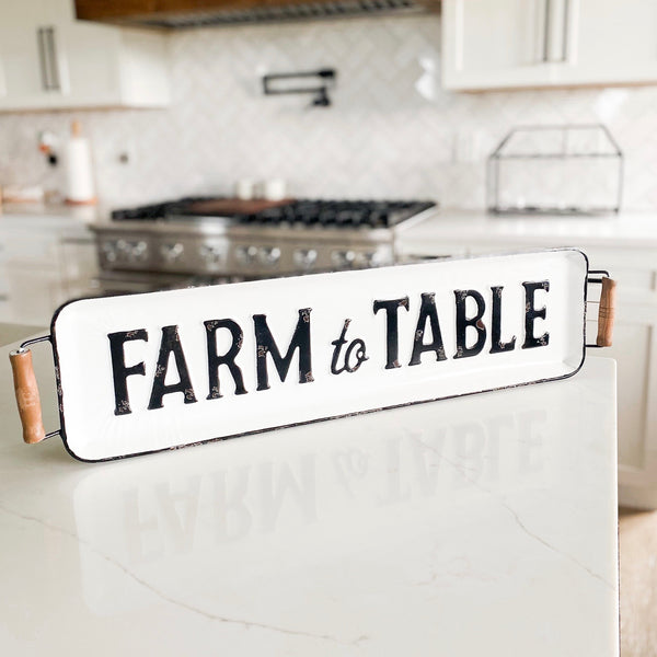 """Farm to Table"" tray sign"