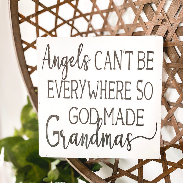 "8"" Angels & Grandma Sign"