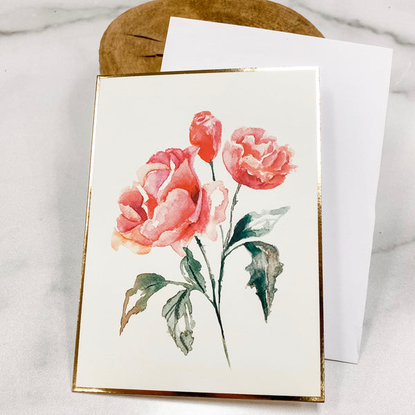 Floral Greeting card (Blank inside)