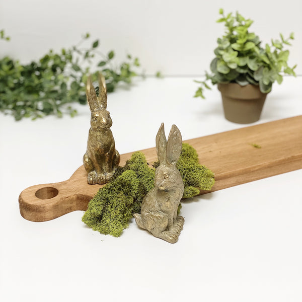 Set of Two Sitting Rabbits, 4.75""