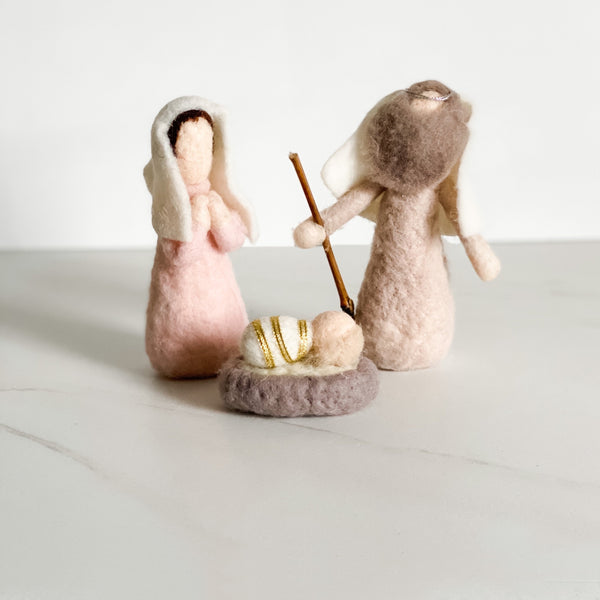 Felt nativity set, set of three - available in two styles