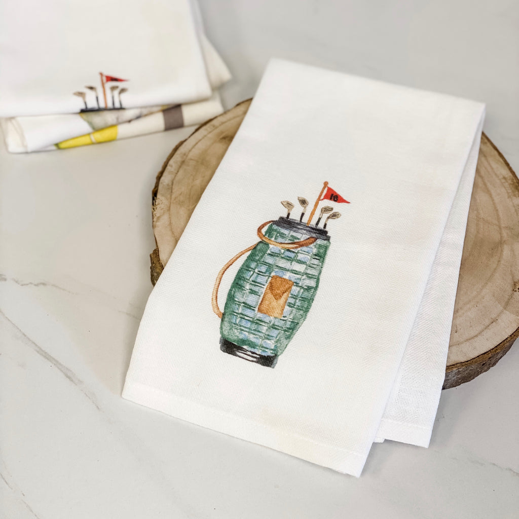 Golf bag tea towel