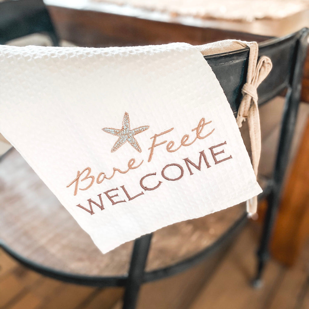 """Bare feet welcome"" Towel"