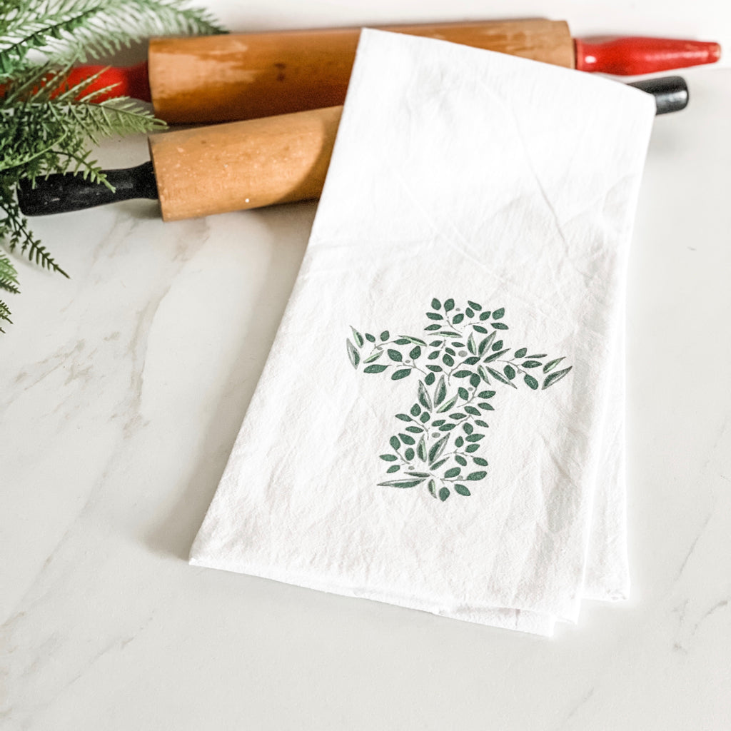 Greenery Cross towel