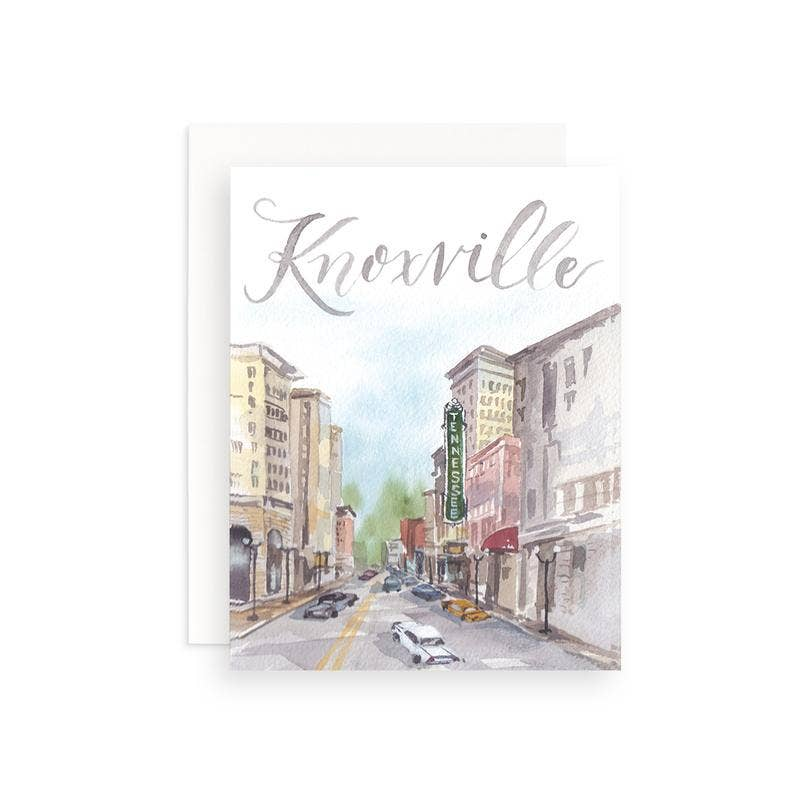Downtown Knoxville scene greeting card
