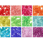 Rainbow Glitter 6 x 9mm Pony Bead Variety Pack - 12 packs (6000 beads)