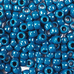 Dark Teal Opaque Plastic Craft Pony Beads, Size 6 x 9mm