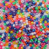 Bright Colors Pearl Multi Color Mix Plastic Craft Pony Beads, Bead Size 6 x 9mm in bulk bag