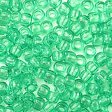 Peridot Green Plastic Pony Beads 6 x 9mm, 1000 beads