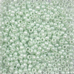 Sea Green Pearl Plastic Pony Beads 6 x 9mm, 1000 beads