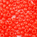 Neon Bright Red Plastic Craft Pony Beads, Plastic Bead Size 6 x 9mm in bulk bag