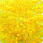 Mix of Yellow Colors Plastic Craft Pony Beads, Plastic Bead Size 6  x 9mm in bulk bag