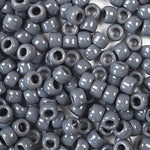 Dark Gray Opaque Plastic Craft Pony Beads, Size 6 x 9mm