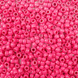 Vintage Rose Opaque Plastic Craft Pony Beads, Size 6 x 9mm