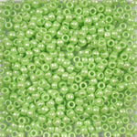 Light Lime Green Pearl Plastic Pony Beads 6 x 9mm, 1000 beads