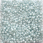 Light Azure Blue Pearl Plastic Pony Beads 6 x 9mm, 1000 beads