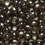 Transparent Jet Black Plastic Craft Pony Beads, Size 6 x 9mm