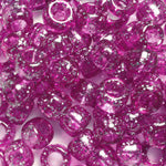 Purple Glitter Plastic Craft Pony Beads, Size 6 x 9mm