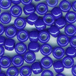 Royal Blue Plastic Craft Pony Beads, Size 6 x 9mm