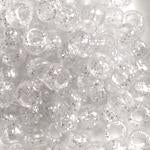 Silver Glitter Plastic Craft Pony Beads, Size 6 x 9mm