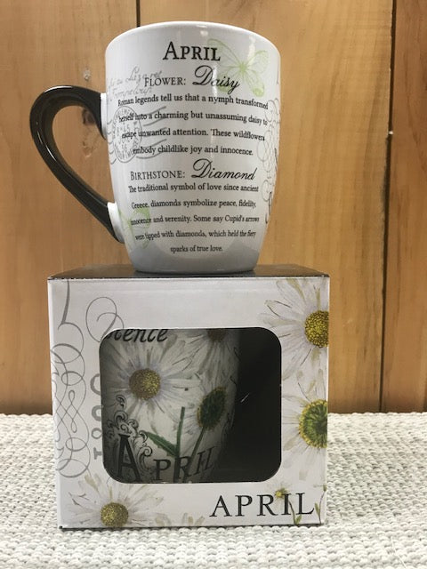 Flower Of The Month Secret Mug April