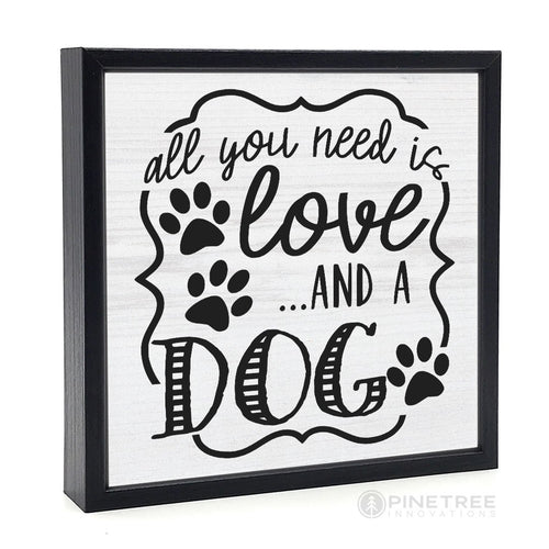 All You Need is Love Dog Wall Decor